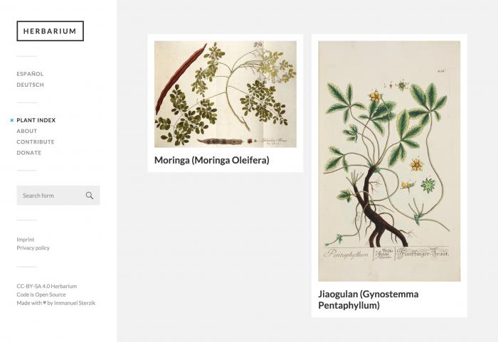Herbarium Home Page